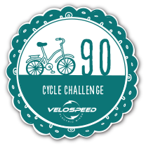 Gold 90 Day Velospeed Cycle Challenge Badge